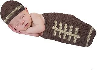 So Dorable Baby Boy Football Crochet Diaper Cover Set