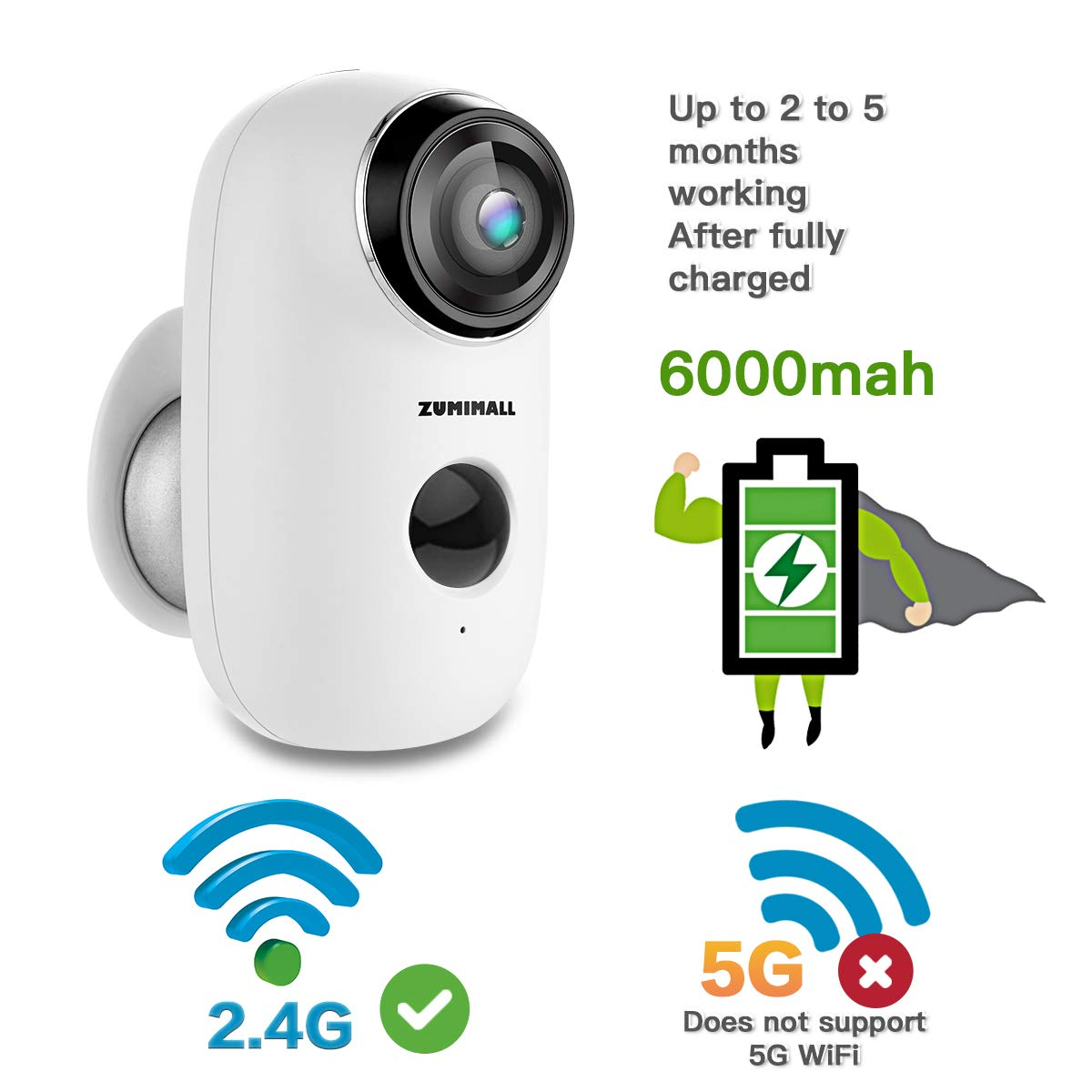 Wireless Rechargeable Battery Powered Wifi Camera Home Security Camera Night Vision Indoor Outdoor 1080p Video With Motion Detection 2 Way Audio Waterproof Compatible With Cloud Storage Sd Slot Amazon Sg Home Improvement