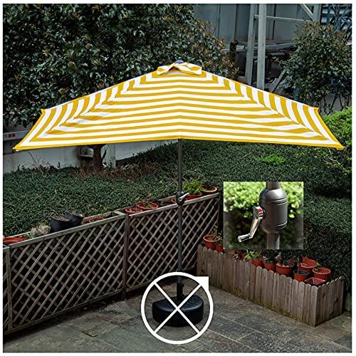 Y&J Cuadrada Parasol Jardin, Sombrilla Terraza Exterior, para Piscina, Patio, 2,5x1,2 m Sombrillas Playa Protección UV