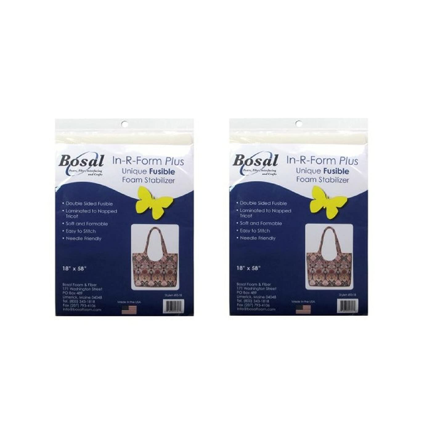 Bosal 493-18 In-R-Form Double Sided Fusible Foam Stabilizer, 18x58-Inch (2 Pack)