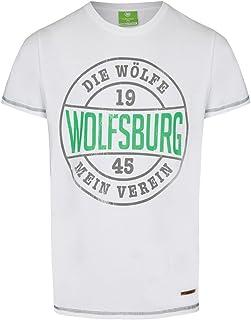 VfL Wolfsburg T-Shirt weiss Die Wölfe großer Brustprint Kollektion 17/18 100% Baumwolle Größe S - 4XL L …