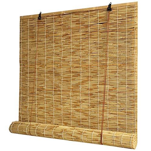 XYNH Bambusrollo Raffrollo | Beschattung Und Sonnenschutz, Kühl Im Sommer | Holzrollo Für Fenster | Für Den Außenbereich | Sichtschutz Rollos In Bambus
