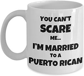 Puerto Rican Husband Wife Gift, Funny Puerto Rico Couple Coffee Mug - You Can