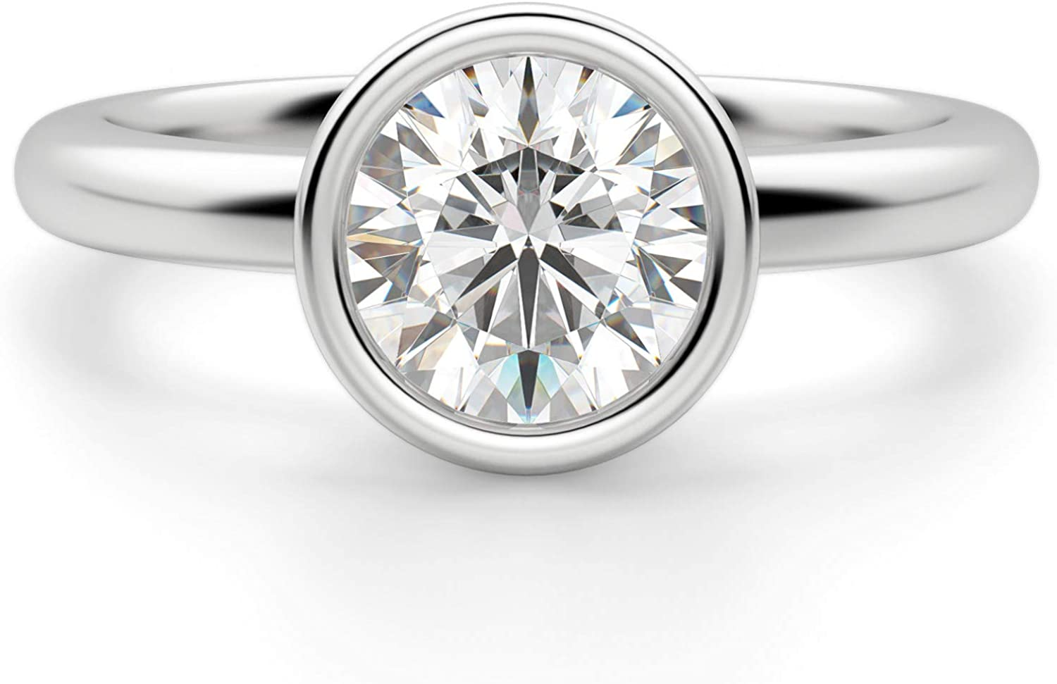 1.49CT Round Cut Colorless shop Moissanite Virginia Beach Mall Wedding Ring Engagement Br