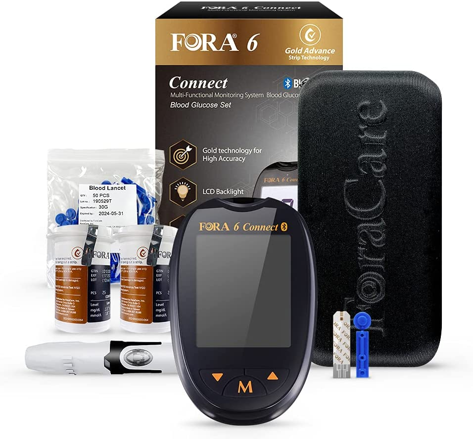 FORA 6 Connect blood ketone and blood glucose test kit