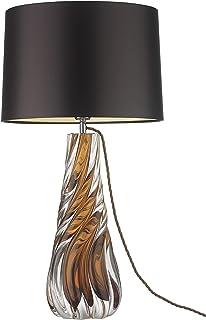 lampes sur pied pour le salon Lampes de table modernes Lampes de table de chevet en verre avec abat-jour Tableau de table ...