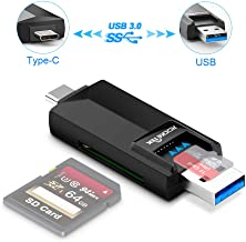 Rocketek - MicroSD, SD Card Reader/Writer. Both Type-C and USB Connectors are USB3.0 with Blazing Transfer Speeds for Android, Windows, Mac, Linux Compatible with TF, SD, Micro SD, SDXC, SDHC, MMC