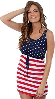 Women's American Flag Dress - Patriotic USA Red White and Blue Dress