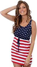Tipsy Elves Women's American Flag Dress - Patriotic USA Red White and Blue Dress