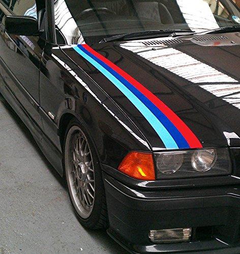 BMW Kegelförmige M-Streifen – Farbe Autoaufkleber Grafik M3 Sport E30 E36 E46 E60 330 325 (SS20010)
