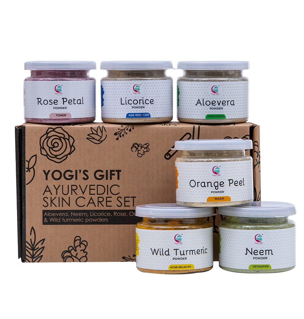 Ayurvedic Skin Care Set Six Cash special price OFFicial shop Powders Aloevera One Pack in Ro