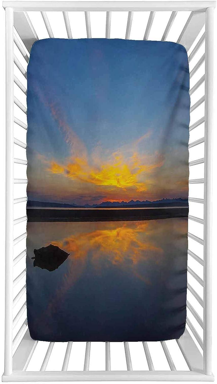 Yellowstone Fitted Washington Mall Crib Sheet Sunrise National Park New arrival