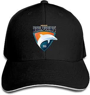 Miami Dolphins Baseball Hat Soft Fitted N FL Hat SportsTrucker Hat,Black