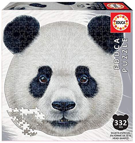 Serie Animal Face Shaped, Puzzle 375 piezas, Oso panda (18476)