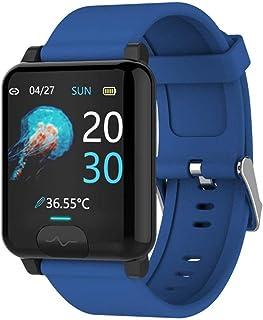 Reloj inteligente para hombres y mujeres, E04S, temperatura corporal, EKG + PPG, monitor de presión arterial IP68, impermeable, compatible con ISO 8.0 + Android 4.4 +