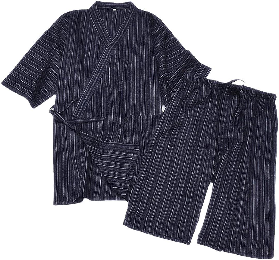 Men Cotton Yukata Kimono Suit S Pajamas Year-end Challenge the lowest price of Japan ☆ annual account Japanese Traditional