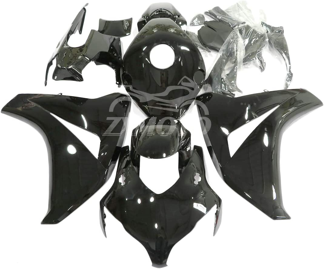 ZXMOTO Glossy Black ABS Plastic Memphis Mall Fairing Fits 100% quality warranty Kit 2009 For 2008 2
