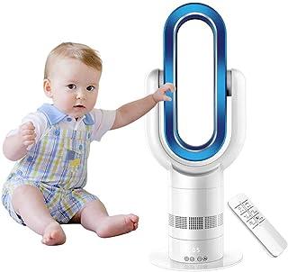 OMZBM Mejorar Hot + Cool Ventilador sin Cuchilla con Mando a Distancia,Casa eléctrica de 25 Pulgadas Ventilador de Torre oscilante con filtros HEPA,silencioso,Minutero,Ventilador de bajo Consumo,Blue