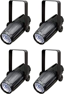 NEW (4) CHAUVET LED PINSPOT 2 3W White LED Spot Lights Disco Mirror Ball w/ Gels