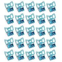金属クリップ リーンクリップ ワイヤーダブルクリップ オフィス用品 書類整理 万能クリップ 紙の固定 25個入り ブルー