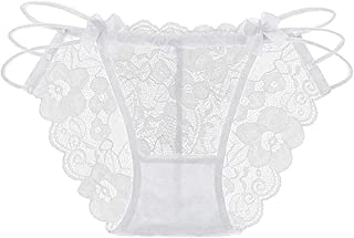 Underwear for Women Bummyo Women Lace Comfortable Thong Bragas Sexy Briefs Panties Hipster Thong Word Pants Underwear
