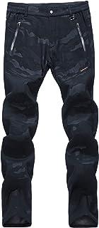 LY4U Mujer Pantalones de Senderismo con Forro Polar Softshell Al Aire Libre Resistente al Agua Resistente al Viento Campin...