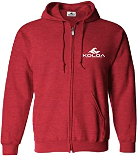 Koloa Full Zipper Wave Logo Hoodies in Adult Sizes: S-4XL