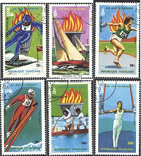 Prophila Collection Togo 1380A-1385A (kompl.Ausg.) 1979 Olympische Spiele 1980 (Briefmarken für Sammler) Olympische Spiele