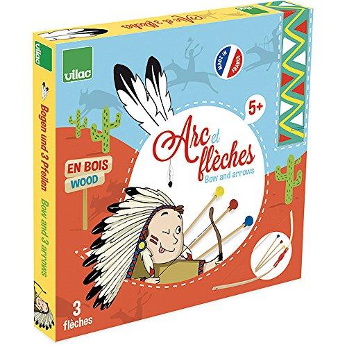 Vilac - 2912 - Jouets En Bois - Arc Démonté + Flêches Boîte Cible - 94 cm