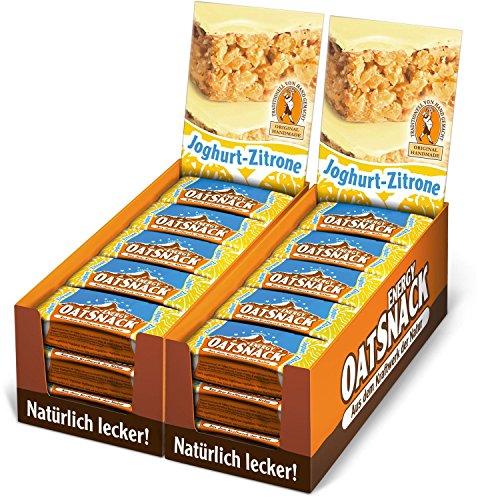 Energy OatSnack, natürliche Riegel - von Hand gemacht, Joghurt-Zitrone, 30 x 65 g, 1er Pack (1 x 1950 g)