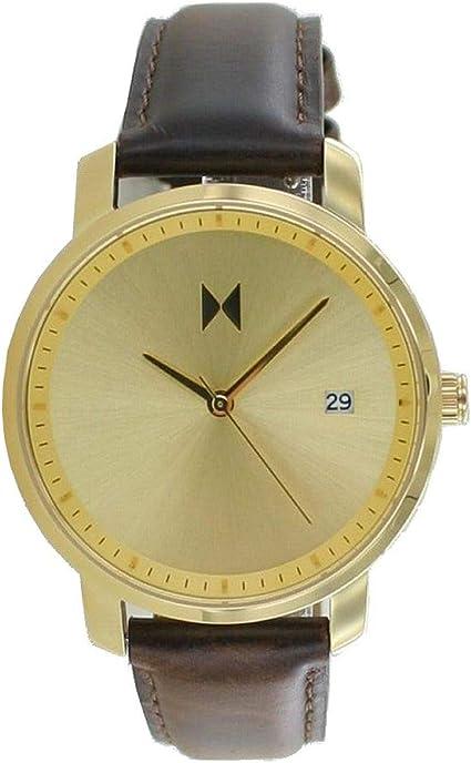 MVMT Signature MF01 - Reloj de pulsera para mujer (38 mm, mecanismo de cuarzo, fecha y correa de seguridad)