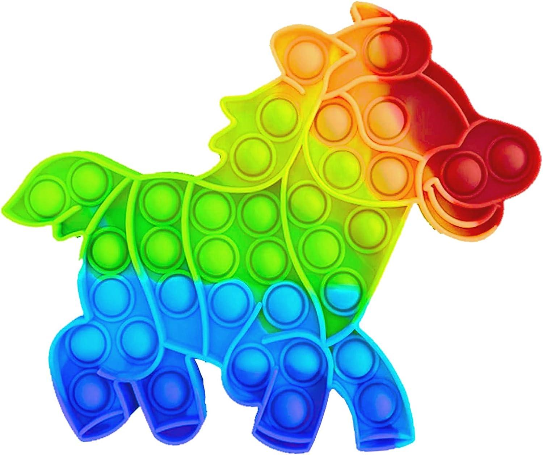 NF ROADTOLOVE Fidget Toy Juguete Antiestres - Pop It Sensorial Caballo para Niños y Adultos - Bubble Push Pop it Horse - Juguetes Antiestrés de Explotar Burbujas para Aliviar Estrés y Ansiedad