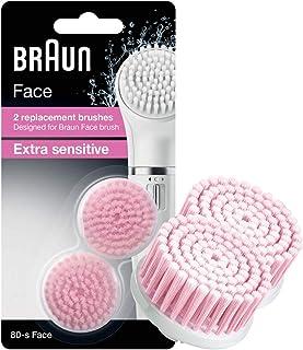 غيار فرشاة براون فيس للتقشير القياسية فرشاة تنظيف الوجه شديدة الحساسية - حزمة ثنائية - Braun face 80-s