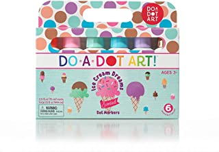 Ice Cream Scented Washable Dot Markers for Kids and Toddlers Set of 6 Pack by Do A Dot Art, The Original Dot Marker