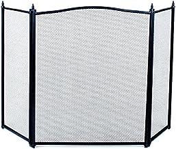 Beschermingsrooster schoorsteenafdekking fijnmazig staalweefsel zwart 3 delen 833