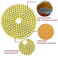 ガラス花こう岩の大理石の石の粉砕車輪のための適用範囲が広い紙やすり100 * 4mmの粉砕ディスクぬれたダイヤモンドの磨くパッド (300粒)