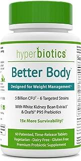 Hyperbiotics Better Body with White Kidney Bean Extract & Orafti P95 Prebiotics—60 Tablets | Weight Management Support