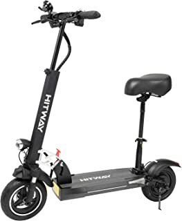 HITWAY Elektrisk Skoter, Vikbar Vuxen-scooter, 800 W-motor, Maximal Hastighet 45 km/h, 3 Hastighetslägen, Intelligent LCD-...