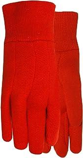 MidWest Gloves & Gear 537KRD-K-AZ-6 KIDS JERSEY GLOVES, Red