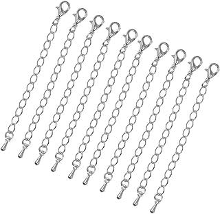 Healifty Lot de 3 rallonges en Argent Sterling 925 pour Collier et Bracelet Argent/é