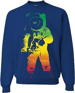 Space Astronaut Man on The Moon Rasta Crewneck Sweatshirt