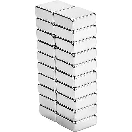 Yizhet Puissant Aimant néodyme Super Fort pour Bricolage pour Panneaux Mur, réfrigérateur, Tableau Blanc - Aimant Neodyme Carré de 10X10X4mm (20PCS)