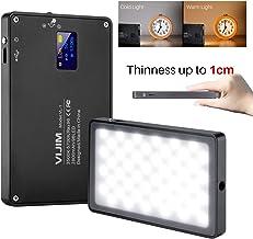 VIJIM DSLR LED Video Light on-Camera Dimmable Bi-Color 3000-6500K CRI 96+ Built-in 2800mAh Battery 96 Beads Magnetic Vlog Fill Lighting for Livestream YouTube