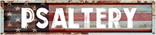 """Psaltery 8"""" American Flag Patriotic Rectangle Weathered Painted Metal Rustic Look Magnet for use on Any Steel Surface"""
