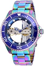 Invicta 26480 Pro Diver Ghost Bridge Silver Dial Men's Watch Mechanical Hand Wind Movement with Stainless Steel Bracelet with Iridescent Case