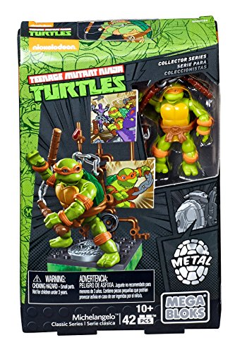 Mega Bloks Teenage Mutant Ninja Turtles Collectors 1987 Classic Michaelangelo Figure
