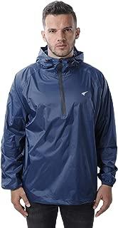 Mens Rain Jacket Waterproof Hooded Coat Pullover Windbreaker Packable Raincoats