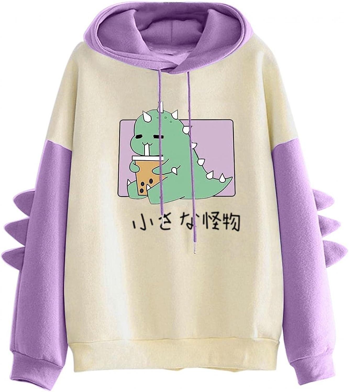 Cute Dino Hoodies for Direct store price Women: Girls Kawaii Teens Dinosaur Cartoon