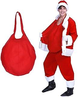 STOBOK Traje Vientre Falso Santa Claus Prop Cosplay para Navidad Show Escenario Fiesta