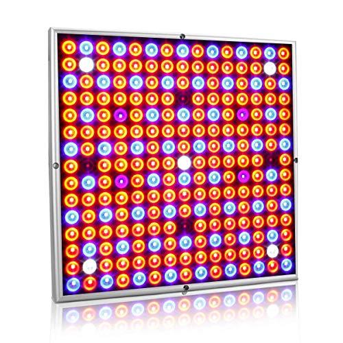 Exmate LED Grow Lights Full Spectrum 45W, 225 LED Luces de Cultivo de Plantas Interior Rojo Azul Blanco IR UV para Plantas Verduras Flores Crecimiento